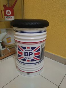 BP OIL UK stool with exclusive details. New, 21st century