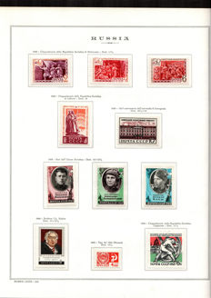 Russia - CCCP - 1969/74 - Selection of stamps on album sheets