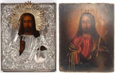 Pantocrator with silver oklad - St. Petersburg - 1860