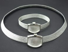 925 Ct Bullion  Silver Hand Made Mesh Necklace & Bracelet Set **** INVEST IN BULLION JEWELLERY ****