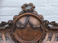 Impressive walnut carving in Louis XVI style - France - end of 19th century