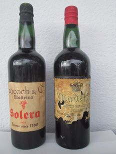 "1872 Solera Madeira Leacock & NV Madeira Blandy's ""Duke of Clarence"" - 2 old bottles"