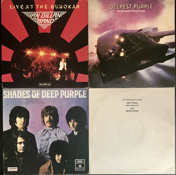 Deep Purple - lot of 4 Album - Shades of Deep Puple - Deepest Purple / Ian Gillian band , live at the Budokan /The Unreleased Album  - ( Live ) - Limited Edition - Unofficial