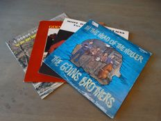 "Lot of four rare bluegrass folk albums by The Goins Brothers - Including  ""In The Head of The Holler"" Private press !"