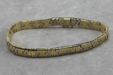 Gold bracelet 585 yellow and white gold