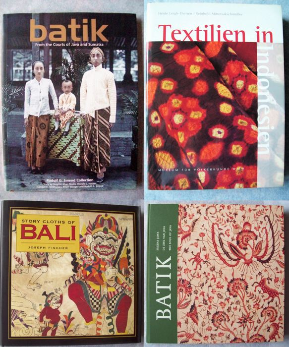 Lot of 4 books about traditional Indonesian textiles