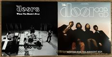 """the Doors: lot of two  lp's one of which is a 2lp and on colored vinyl: """"When the music's over"""" and """"Waiting for the midnight sun"""" LIVE in 1967-1970."""