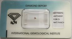 Natural Fancy Light Pink Diamond 0.06 ct  with IGI cert  ***No Reserve Price***