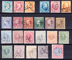 Netherlands 1850/1872 - King Willem III - NVPH 1/3, 4/6, 7/12 and 19/29