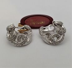 Damiani - white gold earrings - diamonds - new and never worn, still with tag - 100% made in Italy - Maximum size: 2.3 x 2.1 cm