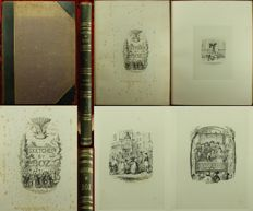 Charles Dickens; George Cruikshank - Suite of 40 proof illustrations for the Chapman and Hall edition of 'Sketches by Boz' - 1839