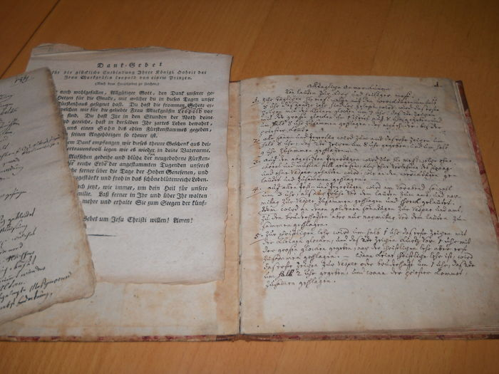 Pater Andreas Breunig - handwritten, religious book by P. Andreas Breunig - without date (1792)