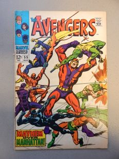 Marvel Comics - The Avengers #55 - With First Named Appearance of Ultron-5 - 1x sc - (1968)