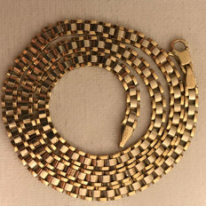 14 kt yellow gold and white gold Rolex link necklace