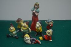 Disney, Walt - lead figurines - Snow White and the Seven Dwarfs in lead (1930s)
