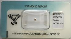 Natural Fancy Light Pink Diamond 0.05 ct  with IGI cert  ***No Reserve Price***