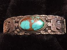 Native American Navajo bracelet sterling silver with Turquoise