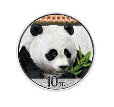 China - 10 Yuan (2018) 'Panda' with colour - 1 oz silver