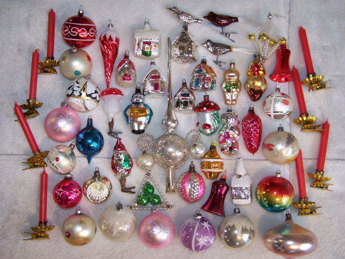 Old Christmas Decorations.Antique Old Christmas Baubles And Decorations Catawiki