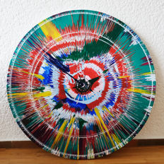 Unknown artist - Spin N II/homage to Damien Hirst painting