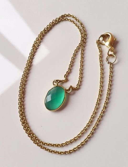 tone green fpj lia necklace new gold products flower elegant sophia blue