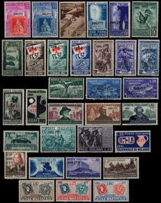 Trieste A, 1951 - Complete Year of 32 stamps with AMG-FTT overprint