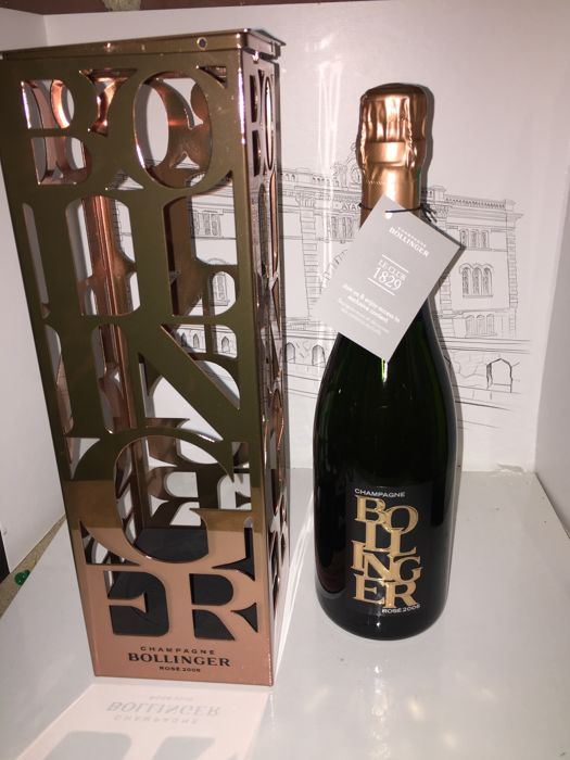 2006 Champagne Bollinger Rose collectors edition in limited edition cage - 1 bottle