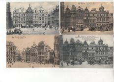 Belgium: lot of 106 postcards of Brussels, all animated