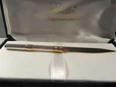 Rare vintage 'Delta' paper knife made of 925 solid silver, original box In perfect condition
