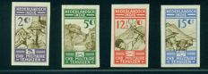 Dutch East Indies 1935 - Charity stamps Chr. Military homes, imperforate proofs