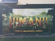 Impressive poster of the film not yet released JUMANJI, welcome to the Jungle (2017) 4 meters x 1.60 meters