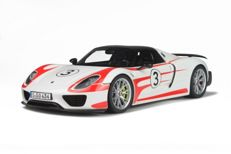 GT-Spirit - Scale 1/12 - Porsche 918 Spyder Weissach Package #3 - White