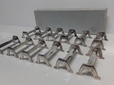 Christofle Apollo, boxed set of 12 knife rests - Art-Deco model (Silver Plated Metal)