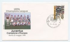 Italy, Republic – Foorball, thematic collection, envelopes, badges commemorative envelopes, Italian Cup, Football World Cup from 1974, and 9 official FIFA postcards.