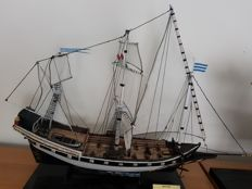 Hand built historic display model ships