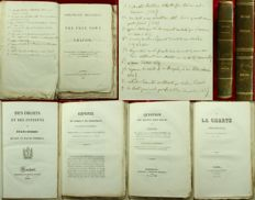 Alexis de Tocqueville - Sammelband Of 11 Very Rare Political First Editions Assembled By Alexis De Tocqueville, Bound For Him, And With His Manuscript Table Of Contents - Includes Kergorlay on the Plot of the Duchesse de Berry, Free Town of Cracow, &c. - 1829-41