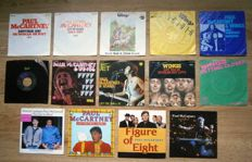 """BEATLES: Paul McCartney Solo (and Wings) - Lot of 14 x 7"""" Singles  All Photo-covers VG++/Exc/Near Mint/Mint"""