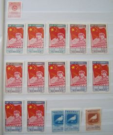 China 1950/1965 - Batch stamps on stock sheets.