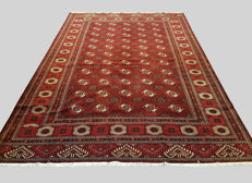 Extra Large Bokhara Design Hand Woven Persian Turkoman Rug Carpet 375x260 cm
