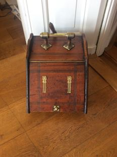 Old Dutch coal scuttle with copper handle and art deco fittings