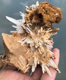 Nicely shaped aragonite on siderite - 13 x 10 x 7 cm - 443 g