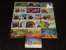 The Netherlands 5 Euro Coin Cards 2008 up to and including 2016 (16 different cards)