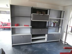Designer and producer unknown - large metal bookcase.
