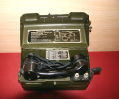 "Field telephone of the British army ""Telephone Type 'L' Mk1""- Number: YA.6989, 2nd half of the 20th century"