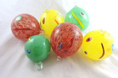 Muma Italia - Set of Christmas balls. Coloured with murrine. Christmas Gifts