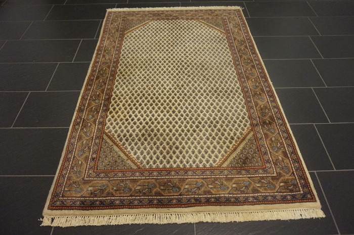 Wonderful handwoven oriental carpet Sarouk Mir 120 x 190 cm made in India Tappeto Tapis Tapijt