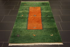 Beautiful hand-knotted Gabbeh oriental carpet Indo Gabbeh 120 x 180 cm Made in India, Tappeto, Carpet, Rug, Tapis, Tapijt