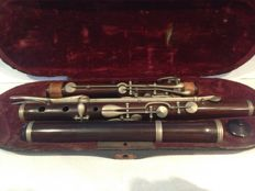 Antique Valuable Wood Transverse Flute