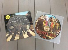 The Beatles two 70's picture discs