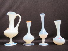 Empoli - lot of 4 made of opal glass